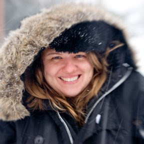 Rosemary Ragusa in snowstorm