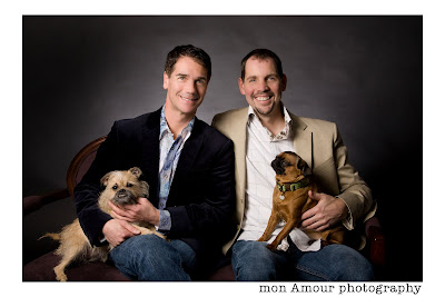 Rich and Kevin with pups