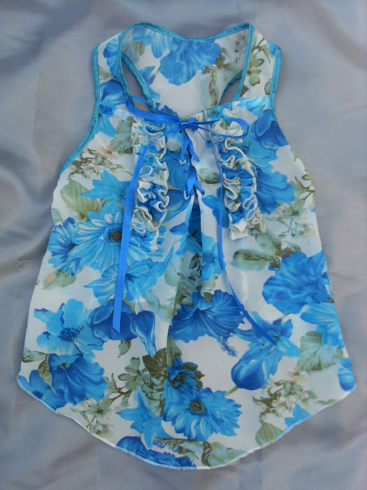 Siffon Blue Flowers Dress