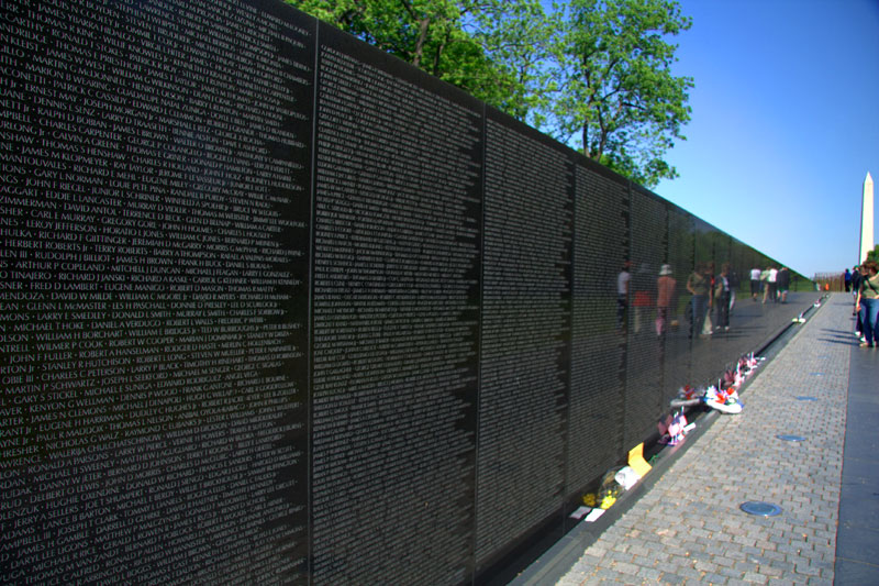 This final piece in monument form, The Vietnam Veterans Memorial