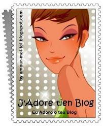 """Selo """"Adoro o teu blog"""""""