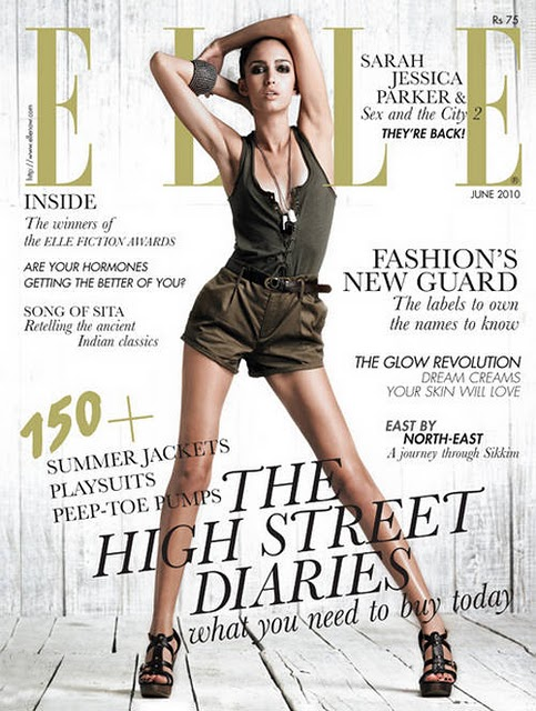 Tamara Moss on Elle Magazine Cover Page Photo Shoot