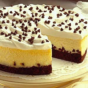 Brownie Chocolate Chip Cheesecake Gourmet Recipe