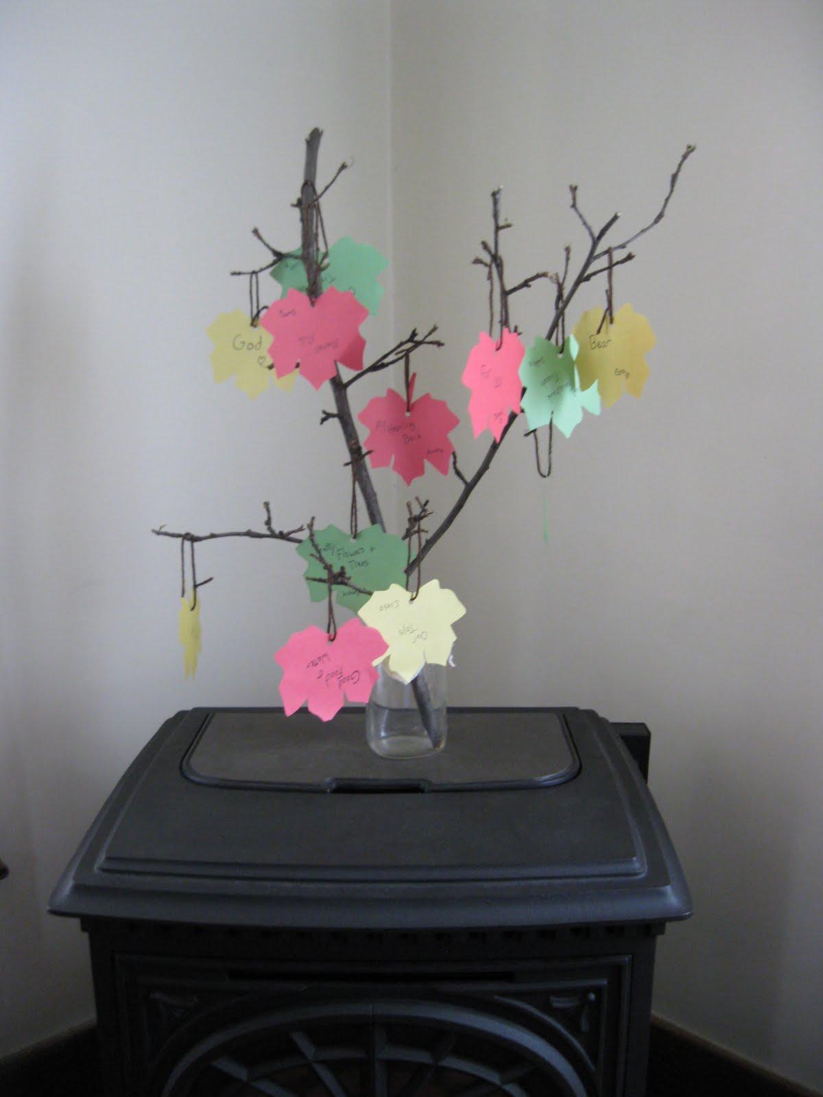 Preschool crafts for kids thanksgiving thankful tree craft for Thankful tree craft for kids