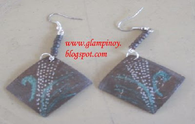 earrings from coconut shell