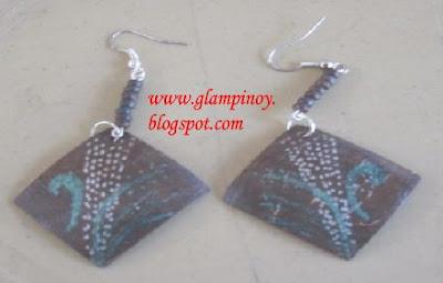 earrings from coconut shell