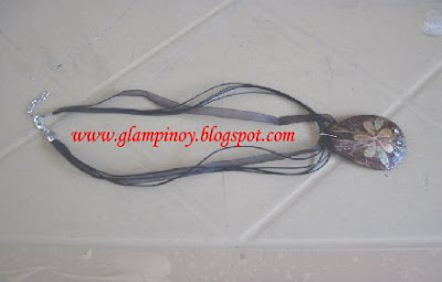 necklace from coconut shell