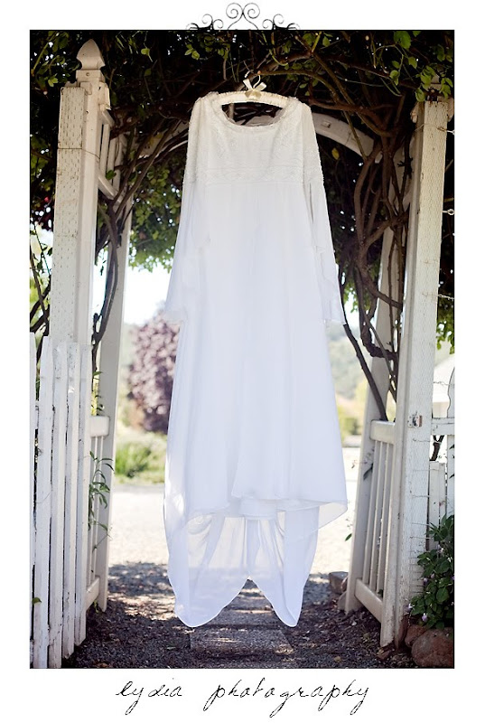 Picture of the Rosemary's wedding dress in Santa Rosa California