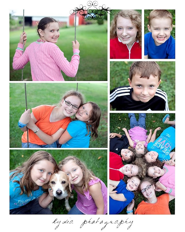 Cousins all together for lifestyle kids portraits in Indiana, Pennsylvania
