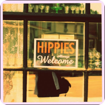 Hippies, Bohemians, Gypsies, Hippy sign