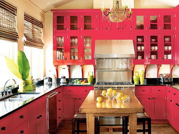 Sweet Pink Kitchen Design