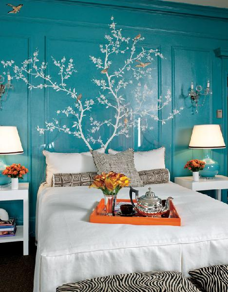 turquoise aqua bedroom interior design decor bedroom design