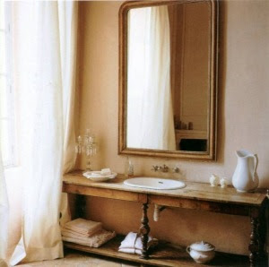 Reloved rubbish mid week design inspiration french for Country living bathroom designs