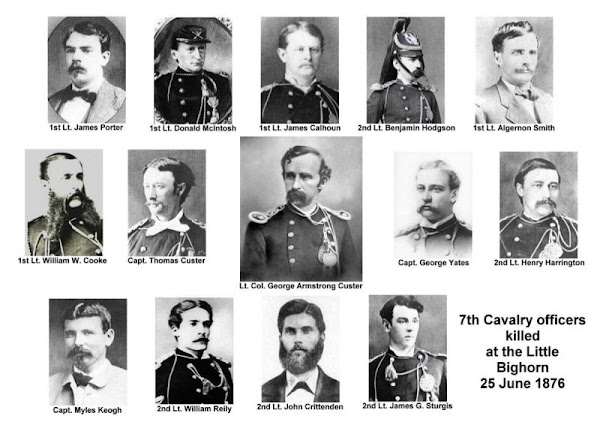 Officers killed with Keogh at Little Big Horn 1876