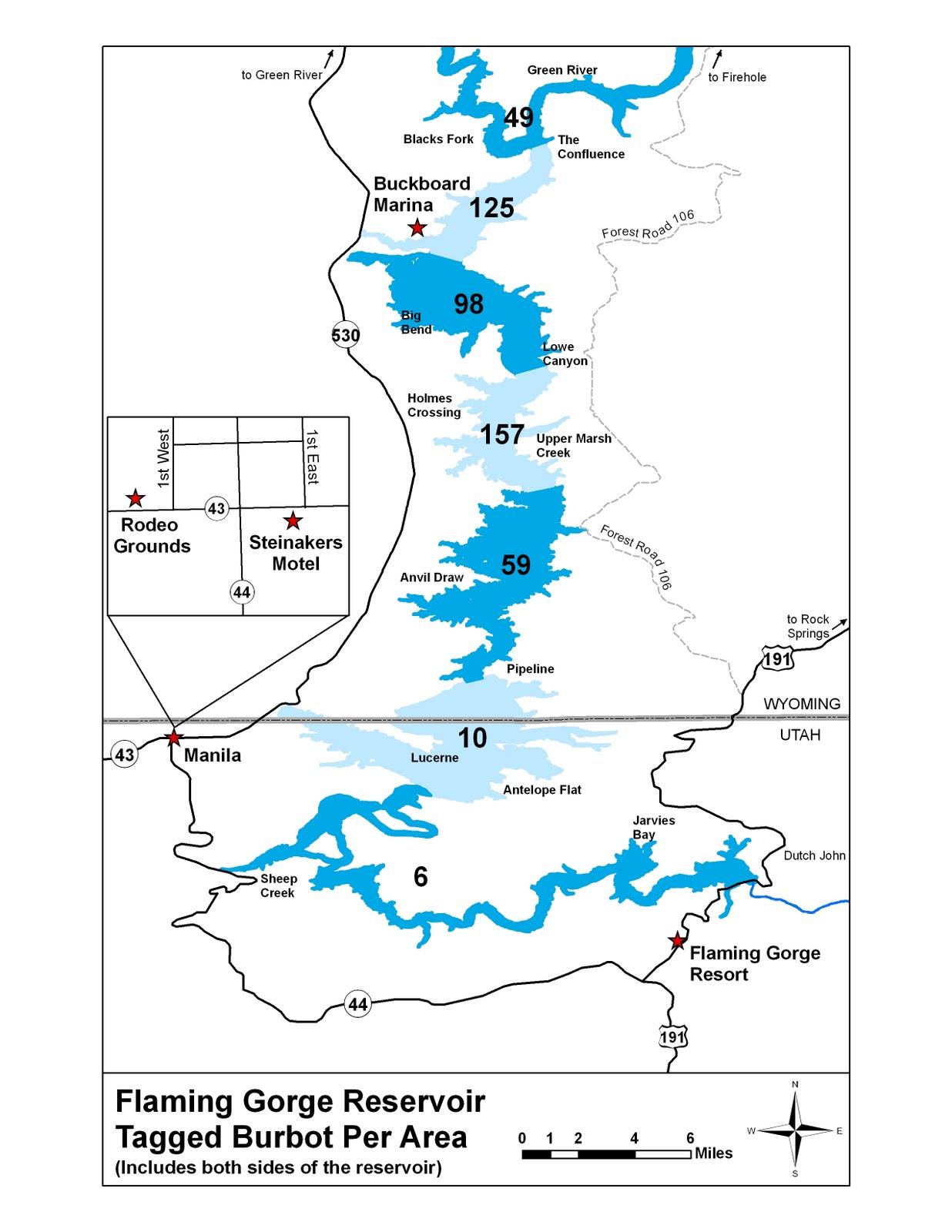 map revealed for flaming gorge burbot bash