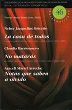 Premio María Teresa de León Autoras Dramáticas. Mención Especial.