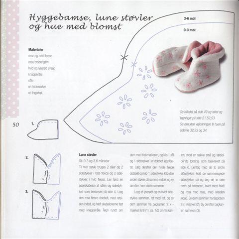 Выкройка обуви для детей своими руками