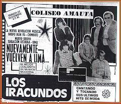 LOS IRACUNDOS- GIRA  1976-LIMA