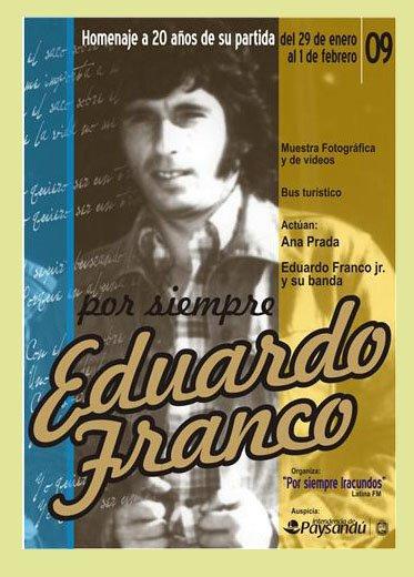 AFICHE POR LOS 20 AÑOS DE LA PARTIDA FISICA DE EDUARDO  FRANCO