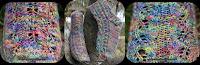 Feuille cablée socks