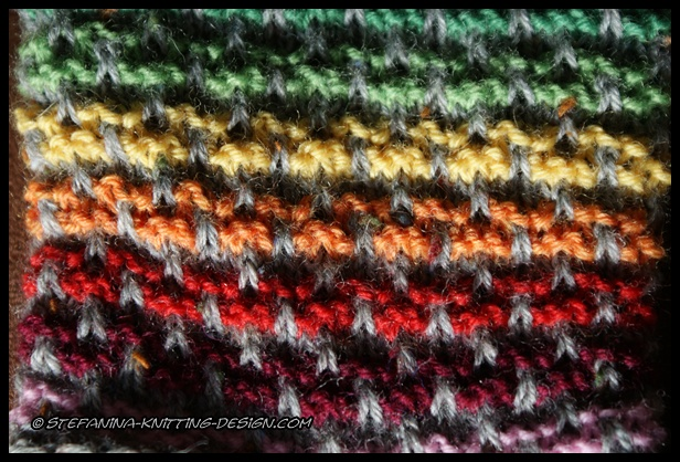 Knitting Color Wheel : These socks are perfect to use sock yarn left over for