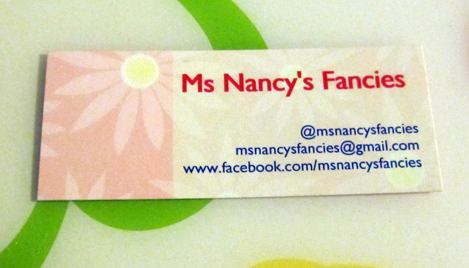 I ordered business cards from 123printcom ms nancy39s for 123print business cards