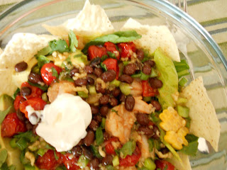 Yoshimi Vs. Motherhood: Southwestern-Style Shrimp Taco Salad