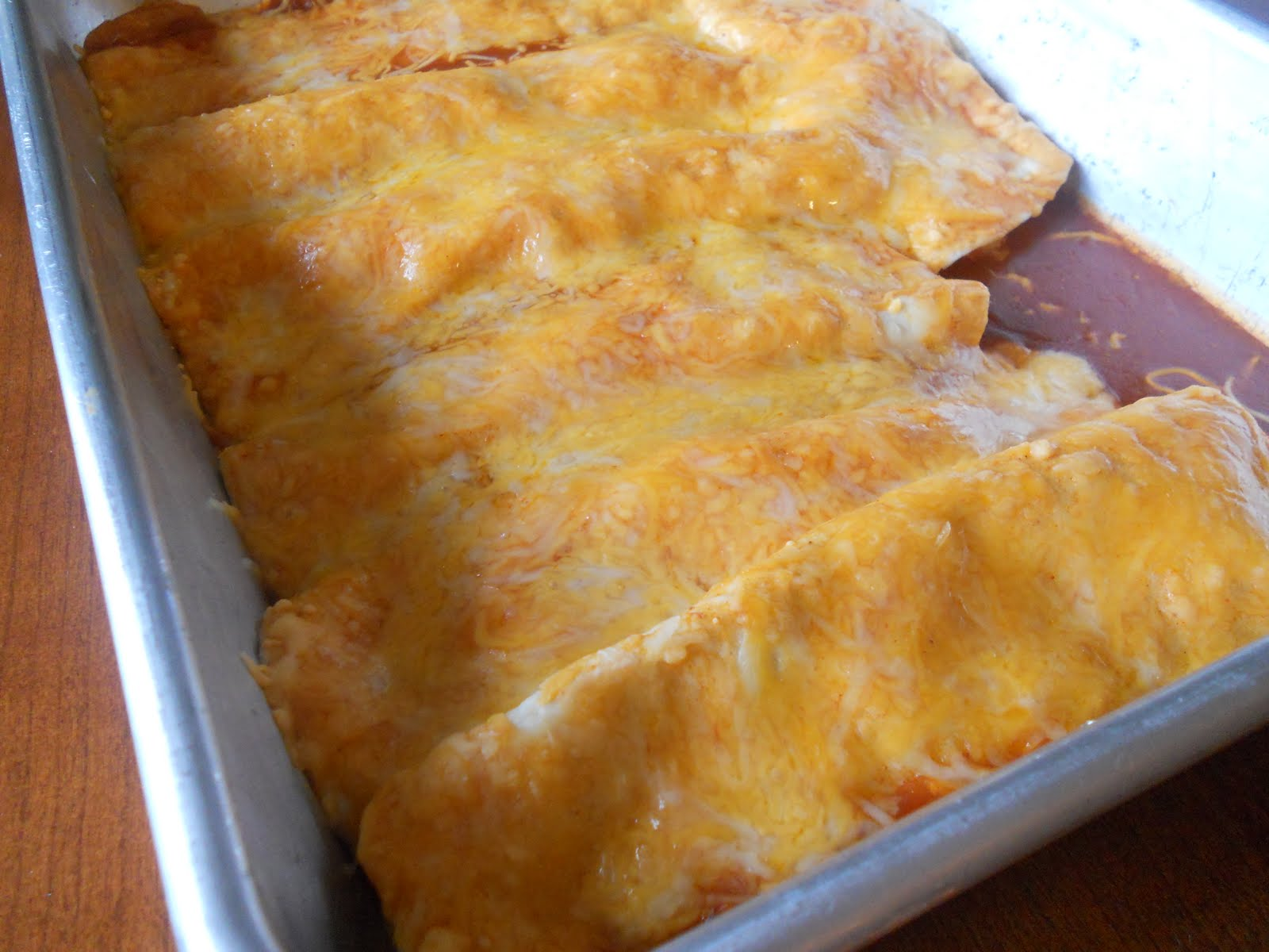 Yoshimi Vs. Motherhood: Chicken and Cheese Enchiladas