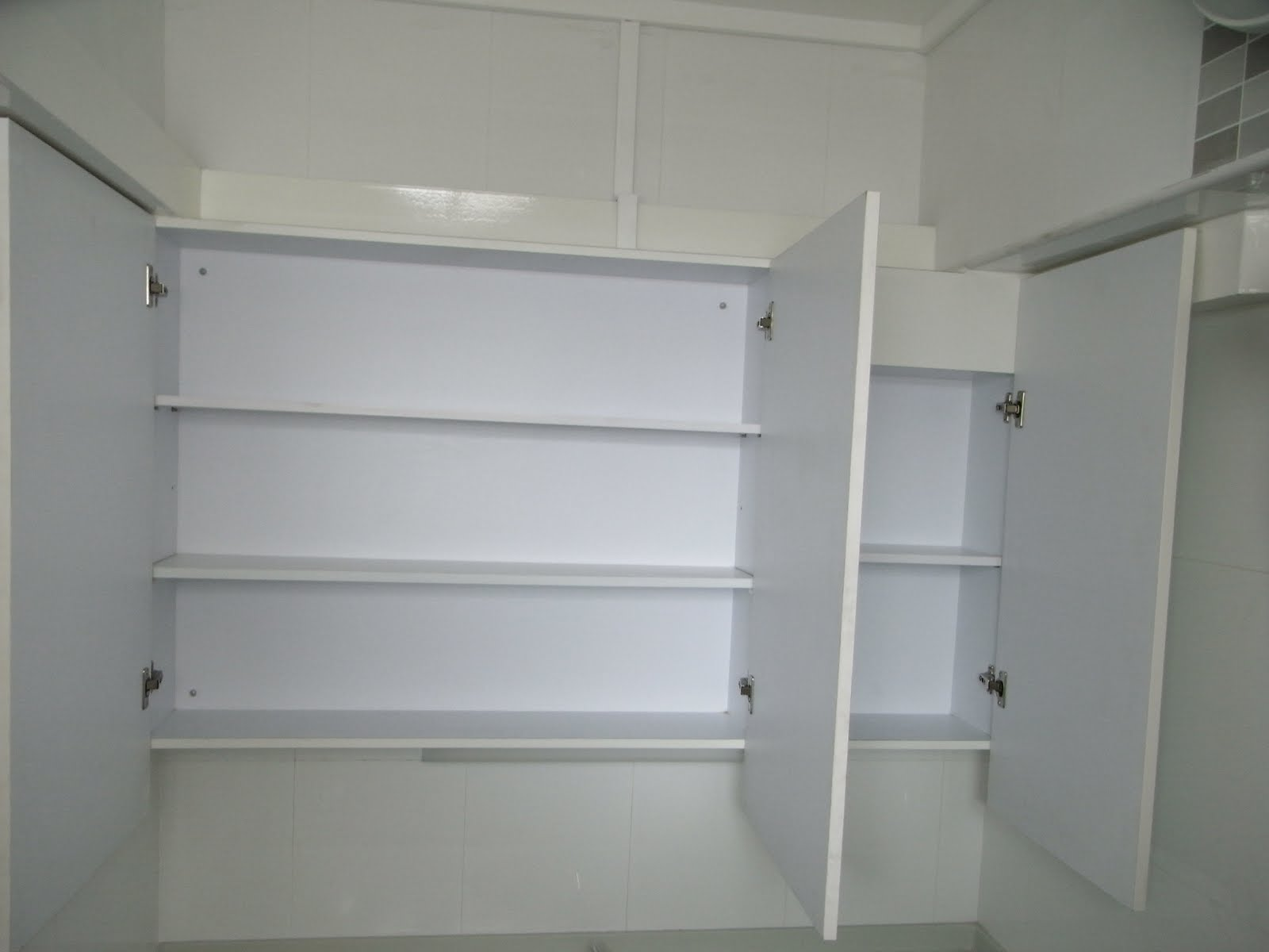 mounted cabiprovided storage space mirror finished cabidoors