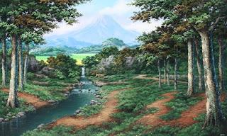 alam pedesaan di kampung entuma: lukisan alam desaku