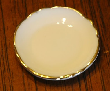 Miniature Glass Platter with Gold Trim $3.99 Each