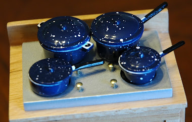 Blue Speckled Pots & Pans with Lids $5.99