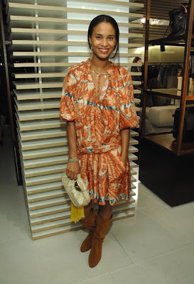 This Shapeless Bohemian Bally Dress Is Not Cute At All On Joy Bryant !