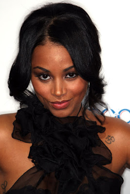 To My Surprise Lauren London Looks Adorable In This Black Chiffon