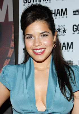 America Ferrera is showing her sexy side in this wonderful powder blue ...