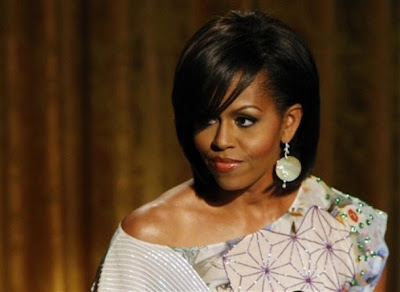 Site Blogspot   Hairstyles on The House Of Fabulous  Michelle Obama  Casual Chic