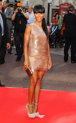 Jada Pinkett Smith is simply glowing in her amazing nude paillettes Stella ...