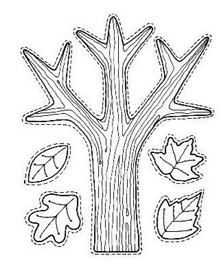 Arvore e folhas Outono para pintar... para crianças