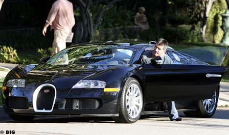 in his Bugatti Veyron!