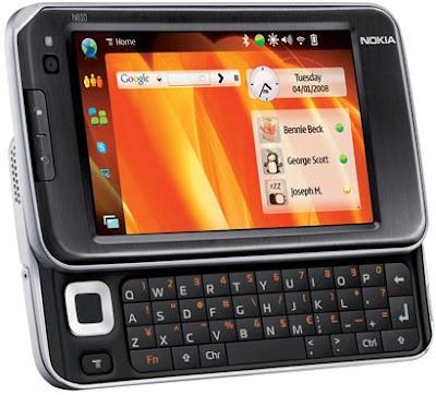 Işte nokia n900 cep telefonunun resimleri