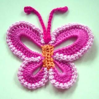 kelebek+motifi 6 Kelebek Motifleri   Dantelden Kelebek Yapımı ( Şemalı)