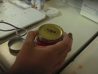 Place hot lid on jar