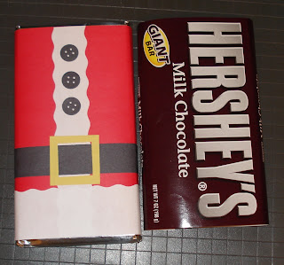Giant Hershey bar dressed up for Christmas