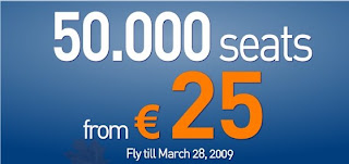 Volare: 50.000 assentos por 25 Euros