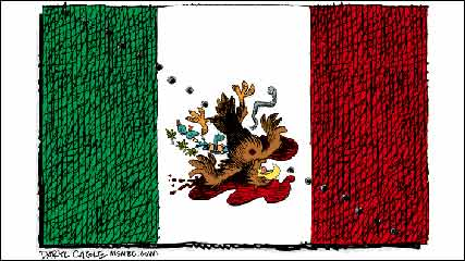 Mexican Flag Cartoon of The Mexican Flag is