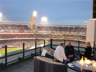 View of Petco Park from the deck of the Legend