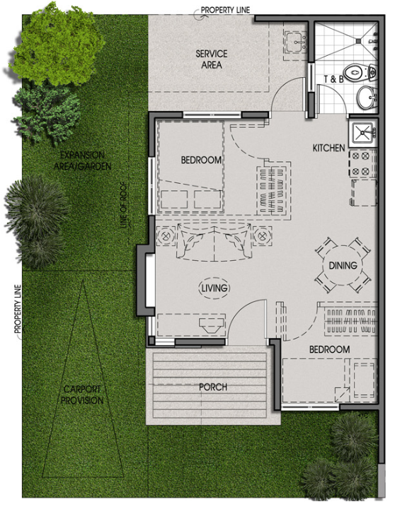 Bungalow Pod Unit Floor Plan