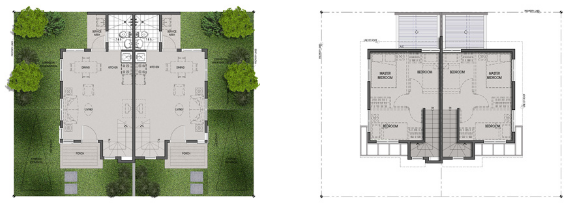 Twin Home Unit Floor Plan