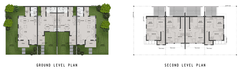 Townhomes Unit Floor Plan at Amaia Scapes Laguna