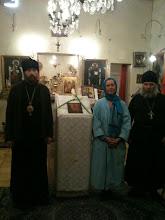 Saint Evêque Victor de Sibérie,Père Serge, devenu Hiéromoine Cassien, et Presbytéra Anna.